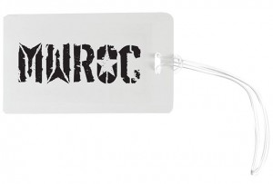 MWROC logo luggage tag